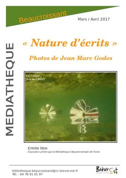 "Exposition de photographies ""Nature d'écrits"""