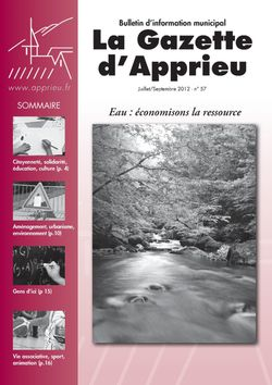 Gazette N�57- Juillet/Septembre 2012